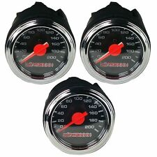 "Three Air Gauges Dual & Single Needle 200psi Air Ride Suspension System 2"" Black"