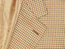 BRIONI PURE CASHMERE Brown Gun Club Shepherd Check Jacket Sport Coat 42 L 2 Vent
