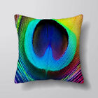 Peacock Feather Printed Cushion Covers Pillow Cases Home Decor or Inner