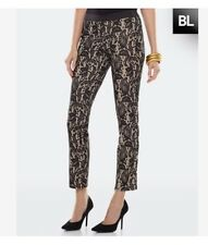 Black Label By Chicos Women's SEXY Black Lace Over Nude Pants Size 1.5 / M / 10