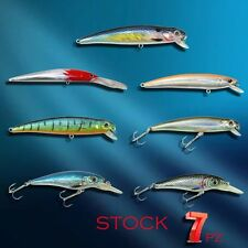 STOCK 7 ARTIFICIALI MINNOW 7-9 CM COLORI COME DA FOTO SPINNING TRAINA MARE