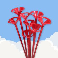20 Globo Rojo Palos.... soporte De Plástico Color Partido Long Tall 1 Set Piezas