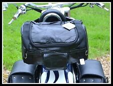 Soft Leather satchel bag for sissi bar -for custom motorcycle harley shadow