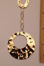 """14k Yellow Gold Hammered Circles Milor Necklace 18"""" - 9.3 Grams"""
