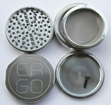 "BIGGEST 4.25"" ERGO Aluminum 4 Piece herb grinder 3 REMOVABLE screens 110mm"