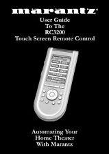 Marantz RC3200 Remote Control Owners Manual