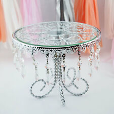 Designer Metal and Glass Round Cake Stand - 8.5 Inch