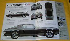 1973 Pontiac Firebird 400 ci Info/Specs/photo 16x11 4 pages