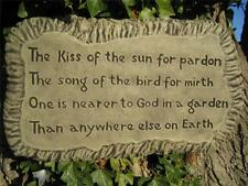Kiss of the sun plaque stone garden ornament | Many more ornaments in my shop!