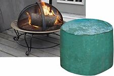 New Large Green Round Firepit Cover Waterproof UV Protected BBQ Rain Cover 90gsm