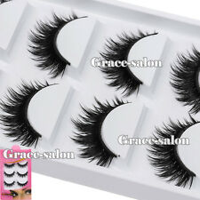 Ultra Thick 3D Makeup Handmade False Eye Lashes Extension Cosmetic Eyelashes Set