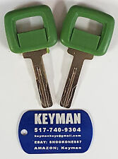 2 (1 pair) Volvo Laser Cut Ignition Keys-also fits Clark & Michigan-#17