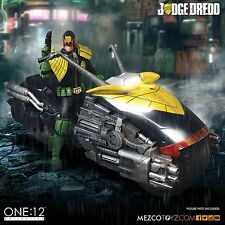 Mezco One:12 Collective Judge Dredd Black Version & Lawmaster Set MIB Unopened