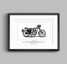 BSA Goldstar DBD34 Limited Edition Fine Art Print A3 size