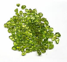 Peridot Gemstones Free Form Nuggets drilled,6-8mm.  300pieces.  FREE SHIPPING