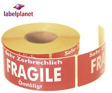 Frágil package/packaging Autoadhesivo franqueo mail/pack Etiquetas Etiqueta Planeta ®