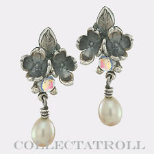Authentic Trollbeads Silver Flowers Earrings Trollbead 56102