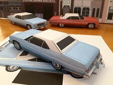 Papercraft Chevrolet Caprice Lt blue color PaperCar EZU-build 1975 Toy Model Car