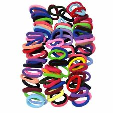 100 Mix Colors Girl Hair Elastic Hair Ties Band Rope Ponytail Holder