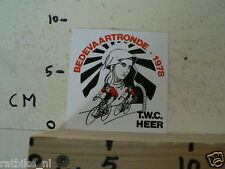 STICKER,DECAL BEDEVAARTRONDE 1978 TWC HEER CYCLING