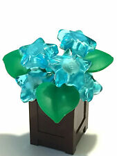 *NEW* Lego TRANS LIGHT BLUE Clikits STAR FLOWERS w BROWN RECTANGULAR CONTAINER
