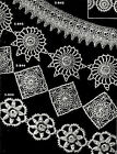 Crochet Lace Edgings Insertions Pattern Collection Vintage Repro 1950's