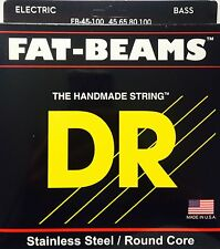 DR FB45-100 Fat Beams BASS Guitar Strings stainless steel round core 45-100