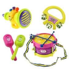 5Pcs Baby Boy Girl Drum Set Musical Instruments Kids Drum Set Children Toys C1MY