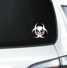 B119 Biohazard Symbol Skull Tattoo Zombie biohazard  vinyl decal car sticker