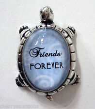 L Friends forever LUCKY TURTLE FIGURINE zinc Inspirational Life Message