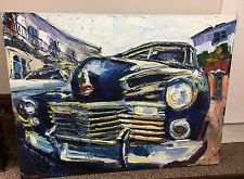 """Michalopoulos 1994 Original Oil Painting """" Varom Zoom"""" 30""""x 40"""" Signed Unframed"""
