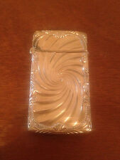 Antique Black Starr & Frost or Foster & Bailey Gold Plated Match Safe Swirl Dec.