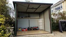 Quality 8x8ft Metal Garage Bike Shed for Motorbike or Garden Equipment AnyColour
