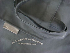 A. Lange & Sohne Black Cotton Utility Bag New