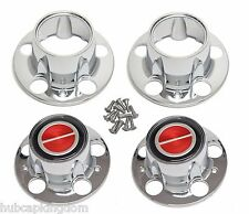 BRONCO II RANGER EXPLORER 4x4 Wheel Chrome Center Hub Cap Set New RED w/ 2 OPEN