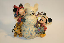 "Jim Shore Disney Traditions Mickey, Minnie & Pluto ""Magic Comes in Many Shapes"""