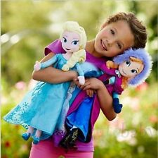 Christmas gift 40CM Disney Frozen Elsa&Anna princess stuffed Soft plush Doll