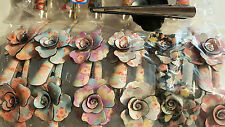 Joblot 24pcs Flower Design  hairclips hairgrips NEW wholesale lot C