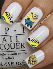 NAIL SET #D1 x20 MINIONS PLAY DAVE DESPICABLE ME WATER TRANSFER DECALS STICKERS