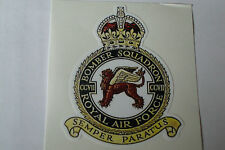 "2 X   RAF BOMBER  SQUADRON   STICKERS  4"" BRITISH ARMY USA  MILITARY INSIGNIA"