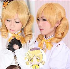 Puella Magi Madoka Magica Tomoe Mami Cosplay Costume Party Wig Hair + Free cap