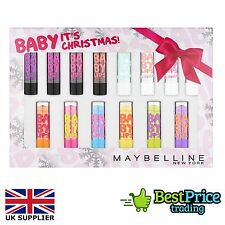 14 x Maybelline Baby Lips Lip Balm Gloss Gift Set *BRAND NEW *Dr Rescue *Electro