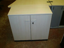 Lot of  2 Koenig and Neurath Double Door Stationery Cupboards, Low Base Unit