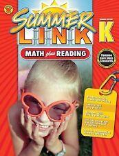 Math Plus Reading Workbook: Summer Before Grade K Summer Link)