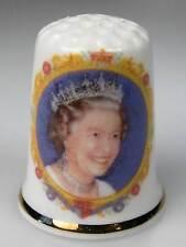 Dé à coudre thimble queen Elizabeth la reine Elisabeth 90. anniversaire Angleterre NEUF