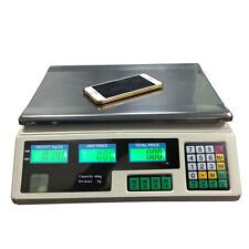 40kg/5g Digital Scale Price Computing Food Produce Electronic Counting Weight