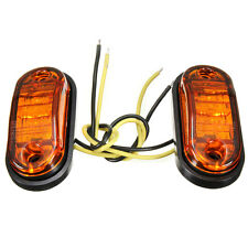 12V / 24V 2 LED Car Truck Trailer Side Marker Lights Lamp Blinker E-marked DOT