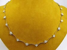 DIAMOND by the Yard STARS Diamond Station Chain Necklace 18k White Gold 18""