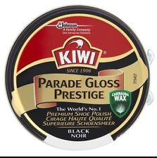 KIWI BOOT SHOE POLISH PARADE GLOSS PRESTIGE 50ML BLACK ARMY.. FREE Uk Delivery.