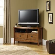 Corner TV Stand - Oiled Oak - August Hill Collection (410627)